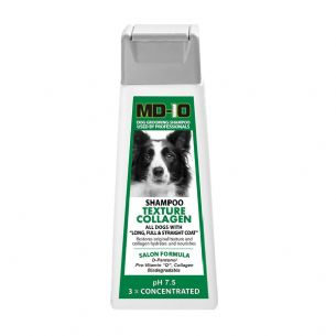 MD10 Texture Collagen Shampoo 300ml (1.2 Litre diluted) Bearded Collie, Border Collie, Lhasa Apso, Tibetan Terrier, Briard, Wire hair Dachshund